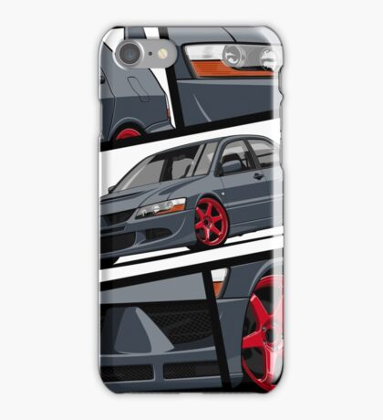 Mitsubishi Lancer Evolution VIII (gray) iPhone Case/Skin