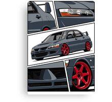 Mitsubishi Lancer Evolution VIII (gray) Canvas Print
