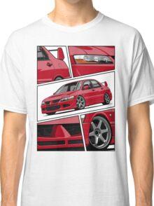 Mitsubishi Lancer Evolution VIII (red) Classic T-Shirt
