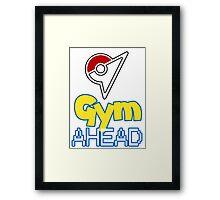 Pokemon Go - Gym AHEAD Framed Print