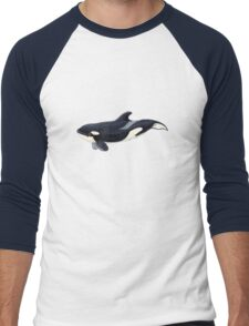 Baby orca  Men's Baseball ¾ T-Shirt