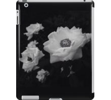 Black and White Flowers iPad Case/Skin