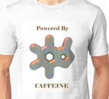 Powered By Caffeine with Caffeine Molecule Unisex T-Shirt