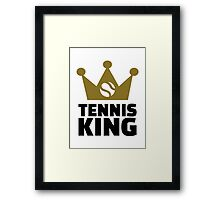 Tennis king crown Framed Print