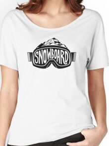 Snowboard Goggles Women's Relaxed Fit T-Shirt
