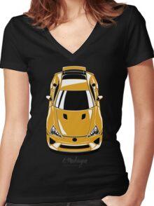 Lexus LFA (yellow) Women's Fitted V-Neck T-Shirt