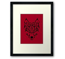 Tribal Wolf Framed Print