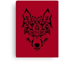 Tribal Wolf Canvas Print