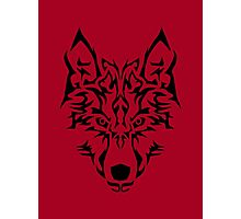 Tribal Wolf Photographic Print