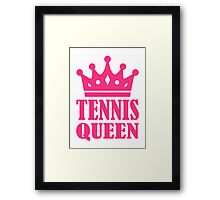 Tennis queen crown Framed Print