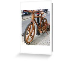 Wooden Bicycle Greeting Card