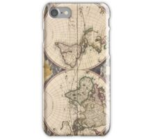 Vintage Map of The World (1672) iPhone Case/Skin