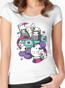 death dice Women's Fitted Scoop T-Shirt