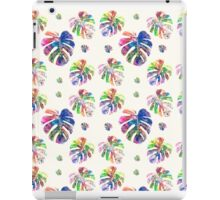 Tropical watercolor leaf pattern iPad Case/Skin