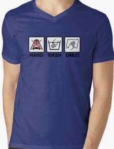 Hand Wash Only! (1) Mens V-Neck T-Shirt