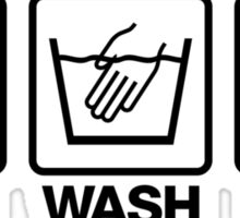 Hand Wash Only! (1) Sticker