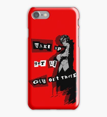 Protagonist - Wake Up, Get Up, Get Out There! - red iPhone Case/Skin