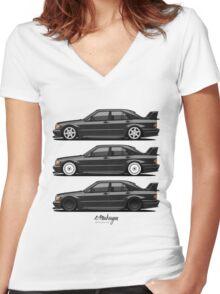 Mercedes 190E Evolution II Women's Fitted V-Neck T-Shirt