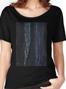 Slot Canyon in Moonlight original painting Women's Relaxed Fit T-Shirt
