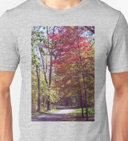 Red Tree on Path II Unisex T-Shirt