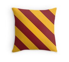 Minneapolis Minnesota Yellow Gold and Dark Red Team Color Stripes Throw Pillow