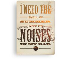 The Smell Of Summer Canvas Print