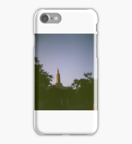 Sunrise over statue iPhone Case/Skin