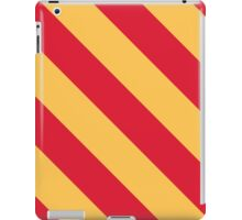 Ames Iowa Red & Yellow Sports Team Stripes iPad Case/Skin