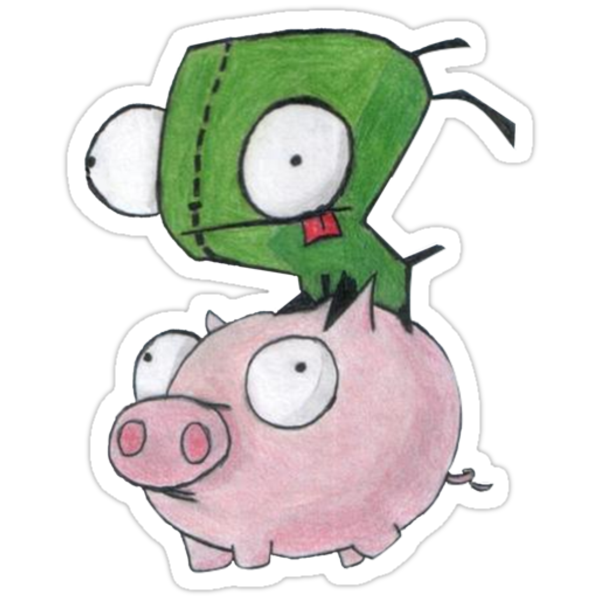 Gir and Piggy by ReadingBeauty