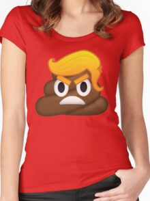 Donald Trump and Poop Emoji Mashup! #NeverTrump #DonaldTrump #DontTrumpAmerica Women's Fitted Scoop T-Shirt