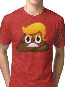 Donald Trump and Poop Emoji Mashup! #NeverTrump #DonaldTrump #DontTrumpAmerica Tri-blend T-Shirt