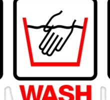 Hand Wash Only! (4) Sticker