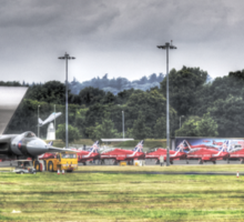 Avro Vulcan XH558 and The Red Arrows Sticker
