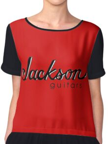 jackson music guitars logo  Chiffon Top
