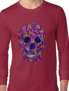 Sugar Skull (large, untiled design) Long Sleeve T-Shirt