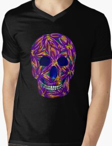 Sugar Skull Mens V-Neck T-Shirt