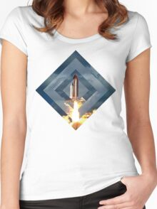 Discovery 1983-2011 Women's Fitted Scoop T-Shirt