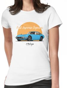 Toyota 2000 GT (blue) Womens Fitted T-Shirt