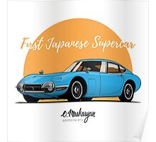 Toyota 2000 GT (blue) Poster