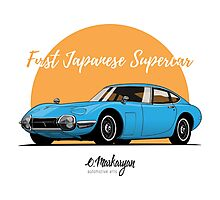 Toyota 2000 GT (blue) Photographic Print
