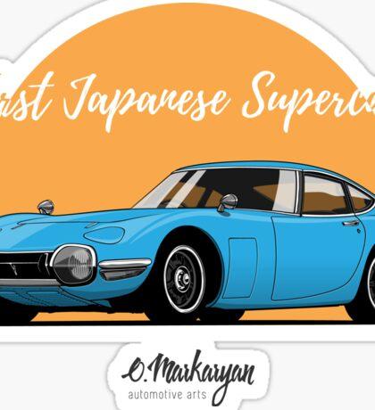 Toyota 2000 GT (blue) Sticker