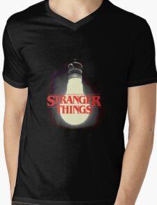 Stranger Things - Lightbulb Mens V-Neck T-Shirt