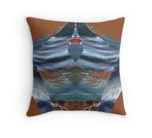 Digital Gem 1 - blue Throw Pillow