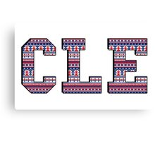 CLE - Indians Aztec Canvas Print