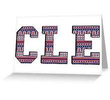 CLE - Indians Aztec Greeting Card