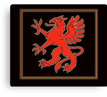 Red Ghryphon Overlay  Canvas Print