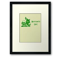 Bottom's Up! Framed Print