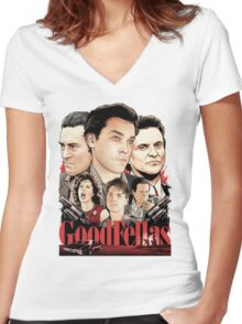 Goodfellas Retro Women's Fitted V-Neck T-Shirt