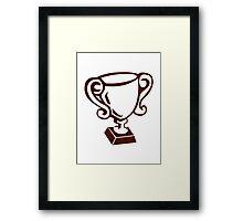 Cup winner champion Framed Print