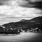 Dubrovnik Landscape - Black Edition (iPhone wallet) by Matti Ollikainen